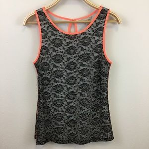Banana Republic Floral Tank with Neon Edges - 10